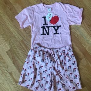 Other - I ❤️ NY top and shorts set